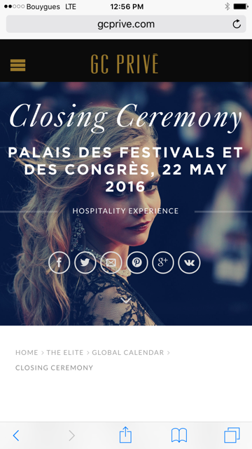 Cannes Palme d'Or Closing Ceremony